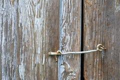 Szczegół drewniani drzwi Zdjęcie Royalty Free