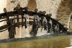 Szczegół drewniani waterwheels w Hamah w Syrii Zdjęcie Royalty Free