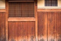 Szczegół drewniany japończyka dom w Gion Obrazy Royalty Free