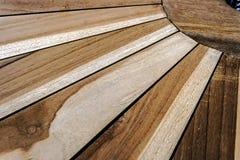 Szczegół drewniany stół Zdjęcia Royalty Free