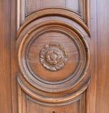 Szczegół drzwi na wiktoriański domu fotografia royalty free