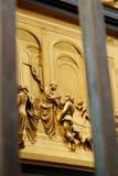 Szczegół drzwi raj w Battistero Di San Giovanni, Florencja, Włochy fotografia royalty free