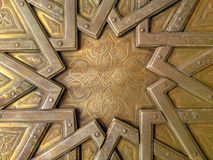 Szczegół drzwi Royal Palace fez obraz royalty free