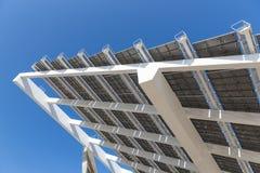 Szczegół duży panel słoneczny przy Barcelona, Hiszpania Obraz Royalty Free