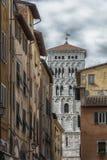 Szczegół dzwonkowy wierza świętego Michael ` s katedra, Lucca Zdjęcie Royalty Free