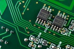 Szczegół elektroniczna drukowana obwód deska Obrazy Stock