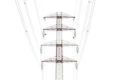 Szczegół elektryczność pilon przeciw obrazy royalty free