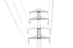 Szczegół elektryczność pilon przeciw fotografia stock
