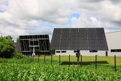 Szczegół energii słonecznej stacja zdjęcie royalty free
