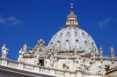 Szczegół fasada bazylika święty Peter w Watykan, Obrazy Stock