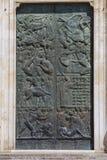 Szczegół fasada katedra Orvieto, Włochy wielki b zdjęcie stock