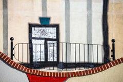 Szczegół fasada Spittelau odpady spopielanie w Wiedeń zdjęcia royalty free