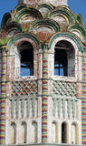 Szczegół fasadowy rosyjski ruina kościół Fotografia Royalty Free