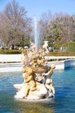 Szczegół fontanna pałac królewski Zdjęcia Royalty Free