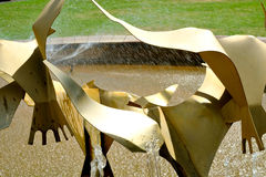 Szczegół fontanna przy Te Awamutu ogródami różanymi, Te Awamutu, Nowa Zelandia, NZ, NZL Zdjęcia Stock