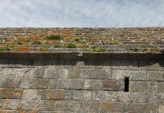 Szczegół Fort Du Cabellou, Południowy Brittany Obraz Royalty Free