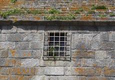 Szczegół Fort Du Cabellou, Południowy Brittany Fotografia Royalty Free