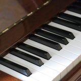 Szczegół fortepianowa klawiatura fotografia royalty free