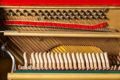 Szczegół fortepianowy sznurek obrazy stock