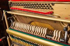 Szczegół fortepianowy sznurek fotografia royalty free