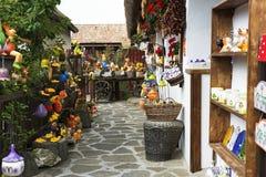 Szczegół garncarstwo dom w Tihany przy Jeziornym Balaton, Węgry obraz royalty free