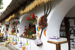 Szczegół garncarstwo dom w Tihany przy Jeziornym Balaton, Węgry zdjęcia royalty free