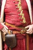 Szczegół Gyulaffy Laszlo banderium tradycyjne bronie i odziewa w Badacsony w 09 Wrzesień 2018 zdjęcia royalty free