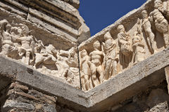 Szczegół Hadrian's Świątynia, Ephesus Zdjęcia Royalty Free