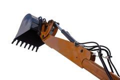 Szczegół hydraulicznego buldożeru ekskawatoru tłokowa ręka Obraz Royalty Free