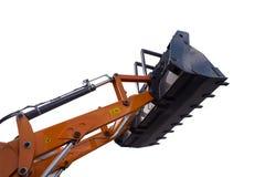 Szczegół hydraulicznego buldożeru ekskawatoru tłokowa ręka Zdjęcie Royalty Free