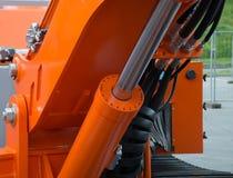 Szczegół hydrauliczny buldożeru tłok obraz royalty free