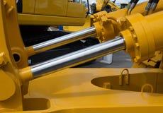 Szczegół hydrauliczny buldożeru tłok zdjęcia stock