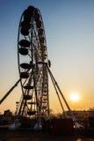Szczegół I sylwetka Ferris koło Zdjęcia Stock