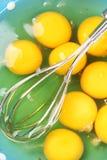 Szczegół jajecznego yolk mieszać Zdjęcia Stock