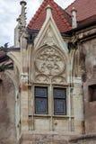 Szczegół jeden część od Corvin kasztelu Rumunia, Transylvania, Hunedoara zdjęcia royalty free