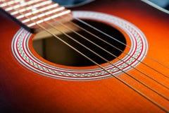 szczegół klasyczna gitara zdjęcie royalty free