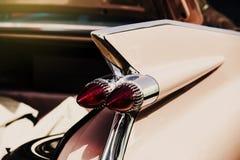 Szczegół klasyczny amerykański samochód Backlight zamknięty up Zdjęcia Royalty Free