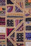 Szczegół kolorowy patchworku dywan zdjęcie stock