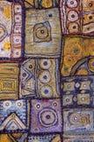 Szczegół kolorowy patchworku dywan obraz stock