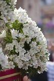 Szczegół kwiecista ornamentacja na tronie Święty tydzień obrazy stock