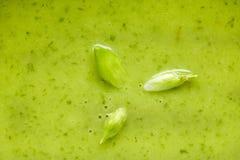 szczegół kwitnie dzikiego zupnego czosnku szpinaka Obrazy Royalty Free