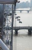 Szczegół Londyńska oka i Londyn linia horyzontu Fotografia Stock