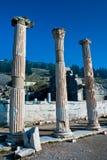 Szczegół marmurowa kolumna Ephesus, ruiny Fotografia Royalty Free