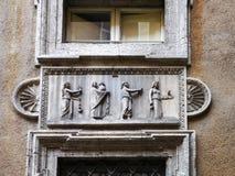 Szczegół Mattei pałac, Rzym, Włochy Zdjęcia Stock