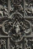 Szczegół Mediolańscy katedry lub Duomo di Milano w Mediolan, Włochy Obrazy Royalty Free