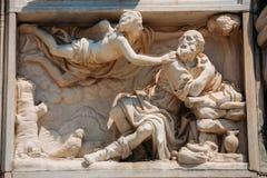 Szczegół Mediolańscy katedry lub Duomo di Milano w Mediolan, Włochy Cl Fotografia Stock
