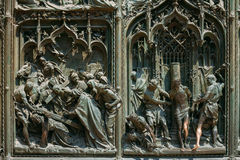 Szczegół Mediolańscy katedry lub Duomo di Milano w Mediolan, Włochy Cl Obraz Stock