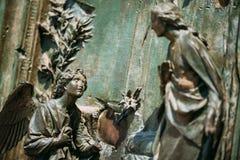 Szczegół Mediolańscy katedry lub Duomo di Milano w Mediolan, Włochy Cl Fotografia Royalty Free