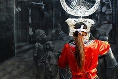 Szczegół mniejszości etniczne kostiumowe zdjęcia stock