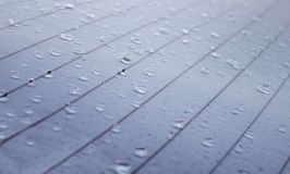 Szczegół mokry deszczem powierzchnia zdjęcie stock